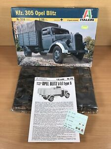 Italeri 1/35 scale Kfz 305 OPEL BLITZ German Truck Model kit - Box a bit scruffy