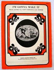 I'M Gonna Make It - Sheet Music - Copyright 1971.