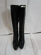 72c5ad54a21 Yves Saint Laurent Leather Mid Calf Platform Zip Up Boots Size 38/8