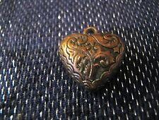 Wonderful bronze tone & clear plastic faceted heart pendants 1cm & 2cm wide