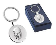 Personalised Skull Design Keyring / Keychain - Engraved -