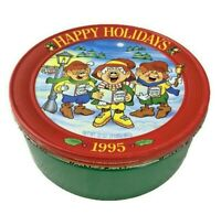 """1995 Keebler Elves Holiday Cookie Tin - 10"""" x 4"""" - Christmas - Happy Holidays"""