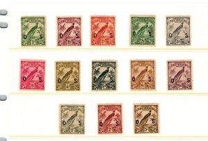 EDSROOM- 510 New Guinea Sc O23-35 1932-4 Officials Complete H and HR CatVal $356