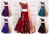Indian Bollywood Ethnic Designer Lengha choli Suit &Traditional