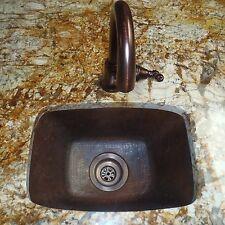 Novatto TCB-002AN Cordoba Rectangle Copper Bar and Prep Sink with Antigua Finish