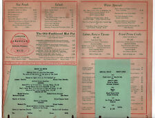 1940s CURTIS HOTEL Lenox Massachusetts MENU Old Stage Grill and Bar VINTAGE Mass