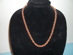 22 inch By 6 MM Wide solid Copper Byzantine Necklace Chain Maille