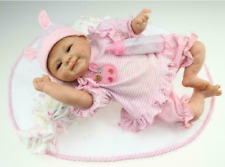 45cm Lebensechte Reborn Babypuppe Mädchen Silikon Vinyl NeugeborenenGeschenk BE