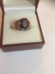 Victorian Ruby Sterling Silver 925 Ring