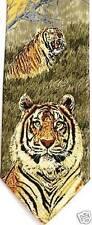 Tiger Design Silk Tie African Safari gents Gift NEW
