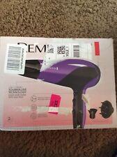 Remington Hair Dryer with Ionic + Ceramic + Tourmaline Technology, Purple, D3190