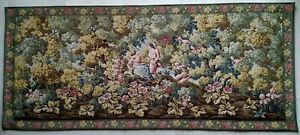 Ancienne tapisserie murale type Gobelins ou point  d'Halluin