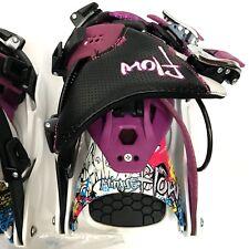 Flow Minx SE Hybrid Snowboard Bindings Womens Size Medium White Purple NEW