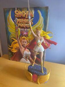 Pop Culture Shock He-Man Masters Of The Universe MOTU She-Ra Statue Mattel Read