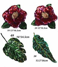 Rose patch/Leaves Patch/Sequin patch/Embroidered patch/Sew on patch/applique