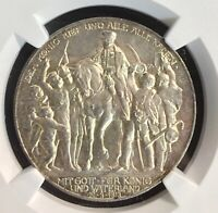 1913A German States 3M Prussia Silver Defeat Napoleon NGC MS 61