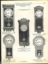 1918 ADVERT Hanging Office Wall Clock Western Union Calendar Regulator Postal