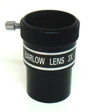 "Telescope Barlow lens. 3x magnification. 1.25"" (31.75mm) fitting diameter"