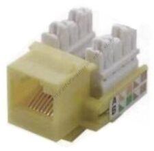 Cat5e RJ45 Keystone Network/Ethernet 10/100/1000 Jack 110Punch Down{IVORY/BEIGE