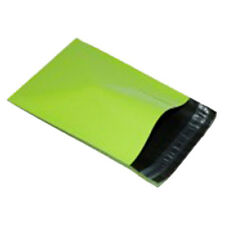 """100 Neon Green 9""""x12"""" Mailing Postage Postal Mail Bags"""