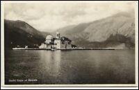 Otočići Kroatien alte Postkarte ~1930/40 Gospa Škrpjela Blick auf Kirche Insel
