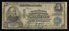 Grand and Sixth N.B of Milwaukee, WI, Ch# 12628, $5 Series 1902-PB, 13 Notes!