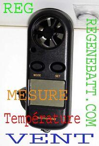 Anémomètre Thermomètre Mesure vitesse du vent Station Météo #AR816