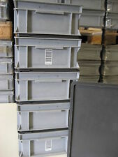 5 plastic euro stackable containers boxes bins crates garden shed /house storage