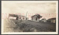 Vintage Photo Mountain Pass & Cool Cabins Roadside Signs w/ Open Sky View 673527
