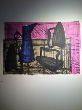 Bernard BUFFET - Lithographie : Still-Life With Iron - Mourlot 1967