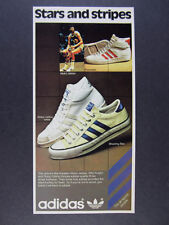 1978 Adidas Pro Model Abdul-Jabbar White & Shooting Star Shoes vintage print Ad