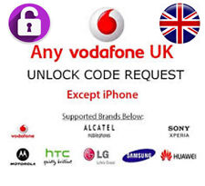 Vodafone UK Network Fast Unlock Code For All models EXCEPT iPhone