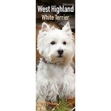 West Highland White Terrier Calendar 2018 Slim Wall Calendar Westie Calendar