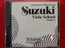Suzuki Viola School Volume 7 (Cd Only) Brand New - Unopened