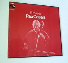 """PAU CASALS """"EL ARTE DE PAU CASALS"""" 12"""" 3 LP BOX SET +LIBRETO VG/EX EMI C 161-524"""