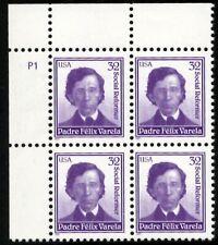 Padre Felix Varela - Scott #3166 Plate Block of 4 Stamps MNH