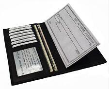 Men Women Genuine Leather Cowhide ID Credit Card Checkbook Cover Slim Wallet