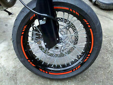CUSTOM REPSOL ORANGE 3M REFLECTIVE RIM STRIPES WHEEL TAPE STICKERS MOTO DECALS