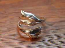 Avon Tulip Vintage Sterling Silver Adjustable Wrap Ring Size 7.5 USA CLEAN