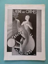 publicité ancienne LES PARFUMS CREME DE BEAUTE LA REINE DES CREMES  (Q2)