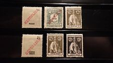 6x Timbres Stamps MACAO MACAU + LOURENCO MARQUES Portugal 1911-1914