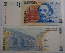 """BILLETE """"   ARGENTINA  """"   2  PESOS  AÑO  2010   UNC    PLANCHA"""