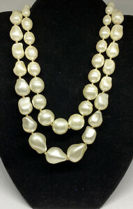 Charter Club Gold-Tone Imitation Pearl Double-Row Collar Necklace MSRP $69 CP438