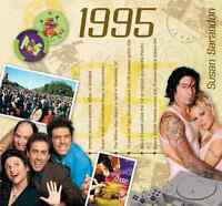 1995 BIRTHDAY or ANNIVERSARY GIFT - 1995 Compilation CD and Year Greeting Card