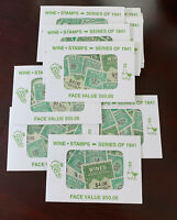 US Stamps 1941 Wine Stamps Mint NH Variety Pack $50 Face Value!!!