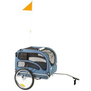 Blue Pull Behind 2-in-1 Dog Bike Trailer & Stroller