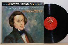 RCA LSC 2370 - RUBENSTEIN - Chopin Ballades - 1ST US LIVING STEREO LP - 1S/1S NM