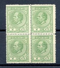 SURINAME 5 A  PERFORATED 14 SMALL HOLES CV €125+  (*)    NO GUM AS ISSUED   LUXE