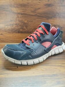Nike Huarache Free Run 2012 Obsidian Blue/Action Red 487654-400 Men's Size 10.5