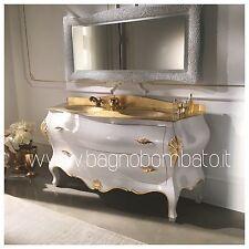 Mobile Bagno Doppio Bombato Massello Barocco Veneziano Top Oro24k